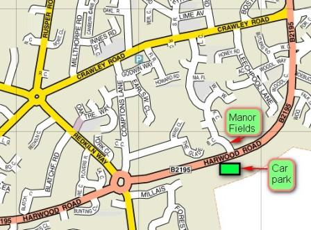 Harwood Rd car park map