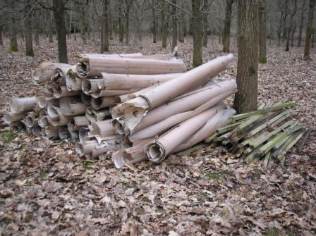 Stack of guards and stakes