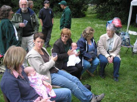 Babies and guests at BBQ