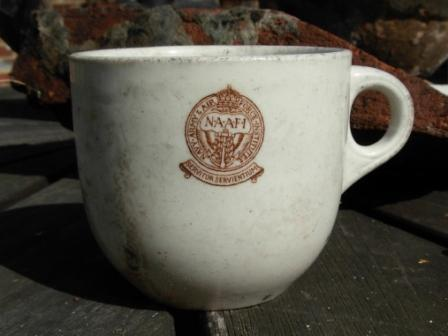 NAAFI cup found in pond