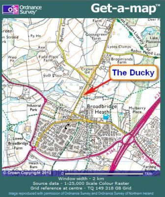 Location of The Ducky