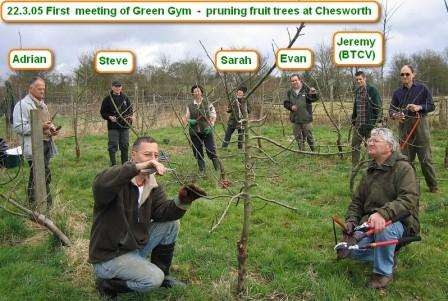 First meeting of Green Gym in Horsham