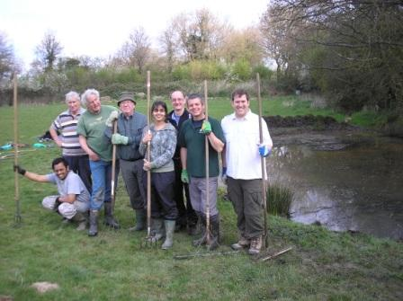 The pond clearing team