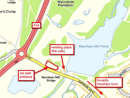 location of Warnham Local Nature Reserve
