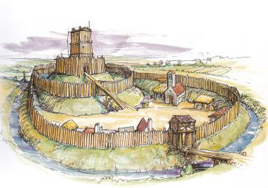 did the Motte & Bailey look something like this in the year 1100?