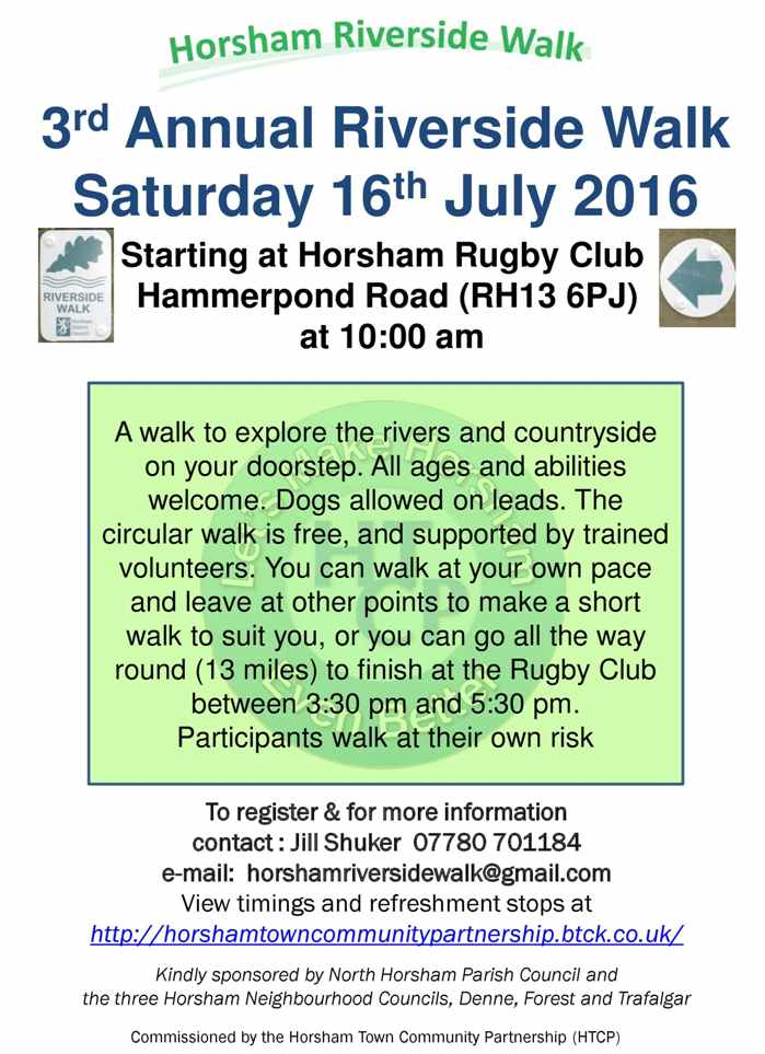 poster of Annual Riverside Walk