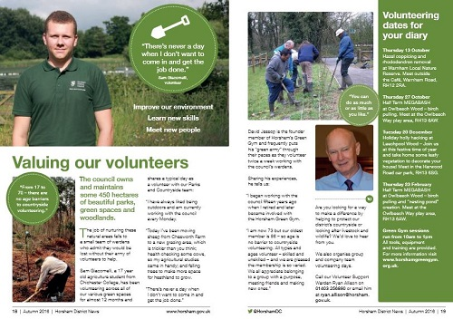 Horsham District News Green Gym Volunteer