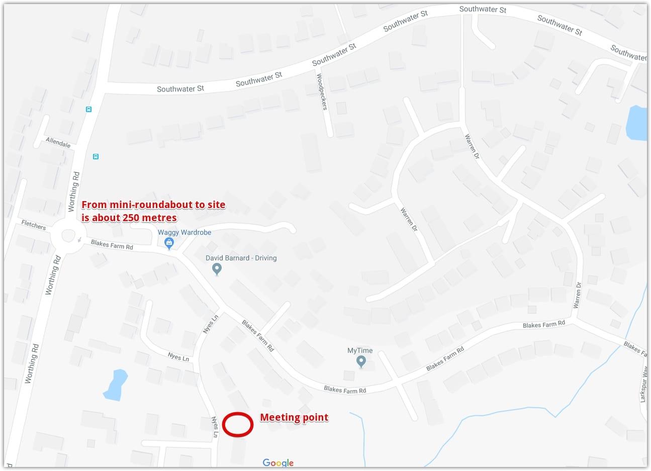 Nyes Lane location