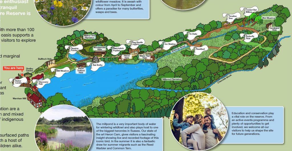 Warnham LNR descriptive map