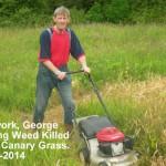 George Mowing Weed killed RCG 14-06-2014