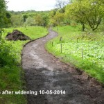 Pathway widen 10-05-2014