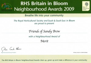 Friends of Sandy Brow Merit Cert 2009