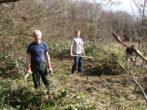 9:3:14 clearing brambles 1