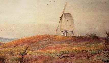 Sketch of old windmill