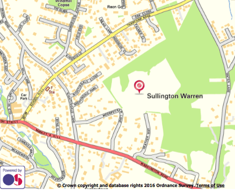Map of Sullington Warren