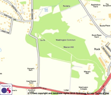 Map of Warren Hill