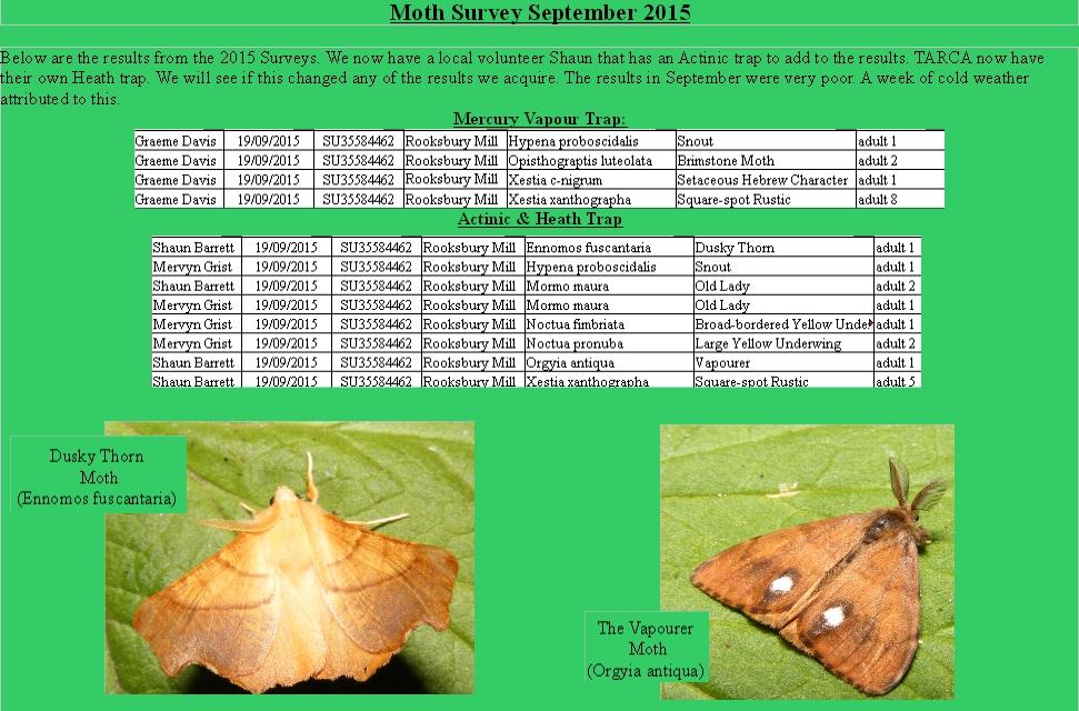 September Moth results 2015.Rooks