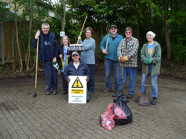 Some of our volunteers after a very successful morning