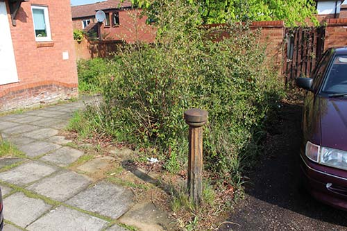 Before – a prominent but neglected corner