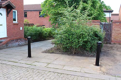The results – a much tidier corner and pedestrian route through to the High Street.
