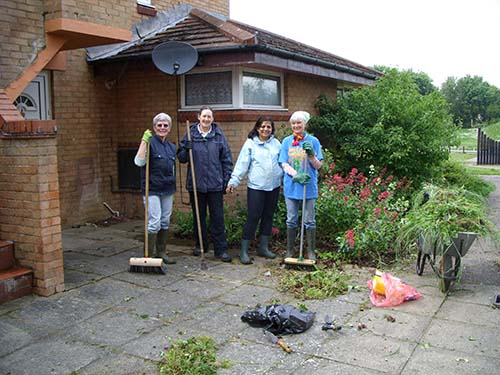 Four gardeners from our Tuesday Team